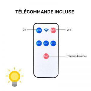 eclairage led solaire avec telecommande terrasse