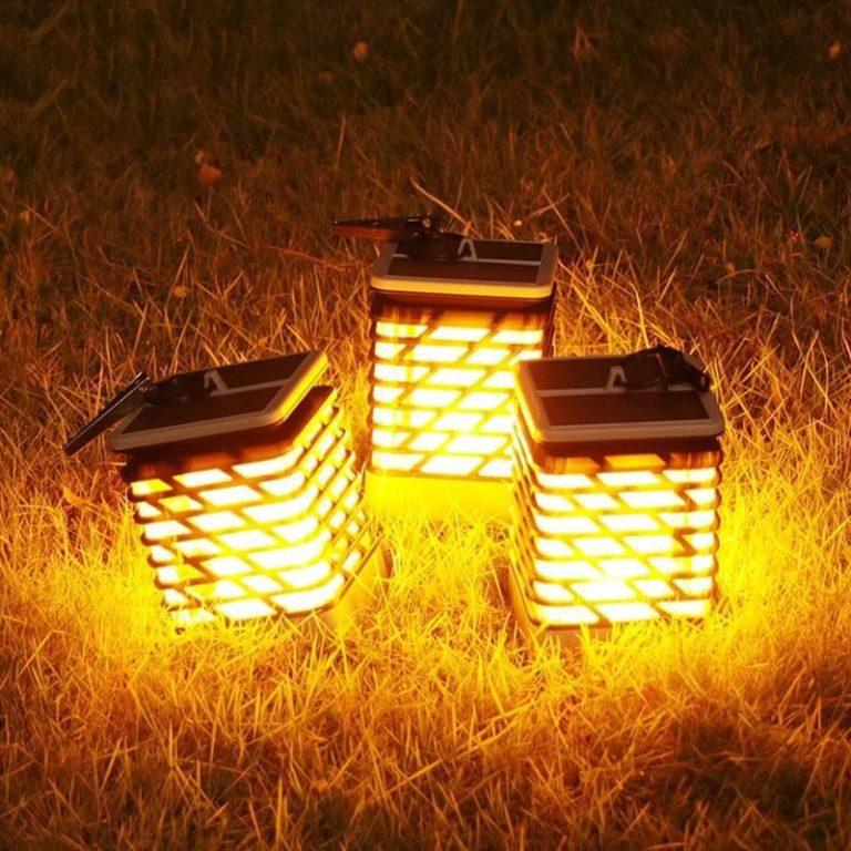lampe de table solaire terrasse