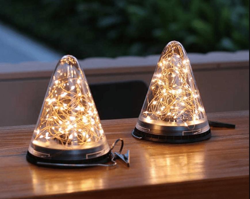 lampe decorative solaire de table