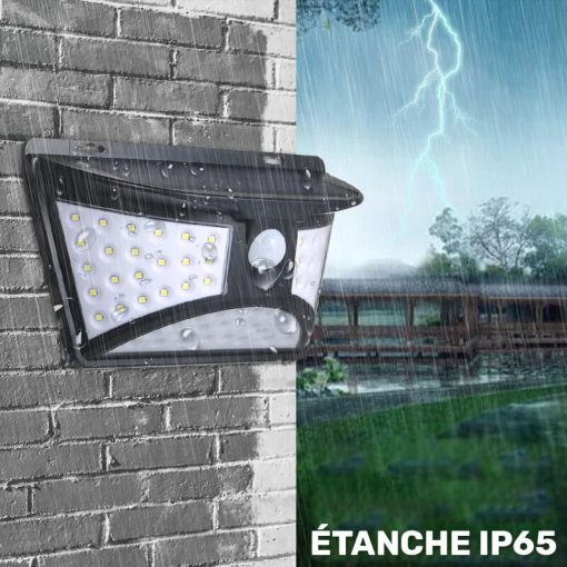 lampe exterieur led avec detecteur solaire etanche