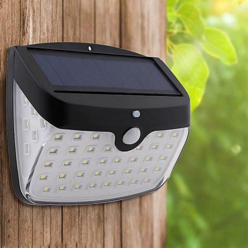 lampe led exterieur detecteur mouvement solaire terrasse