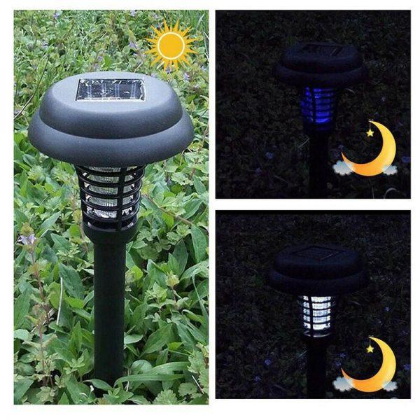 lampe led solaire anti moustique jardin