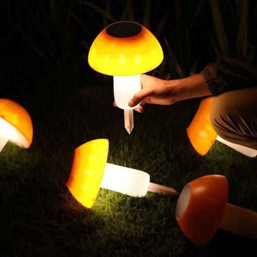 lampe solaire champignon exterieur
