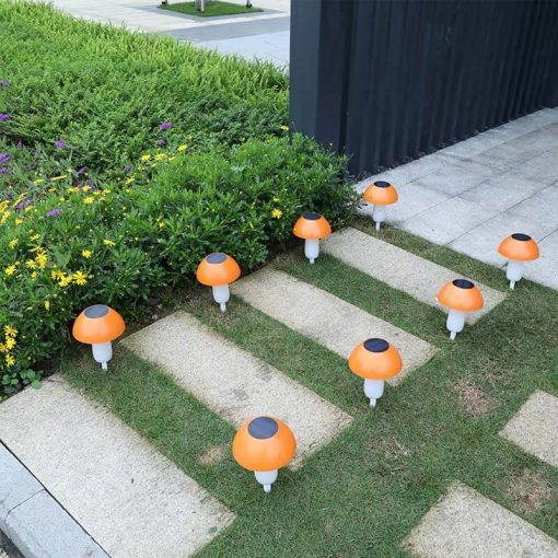 lampe solaire champignon jardin