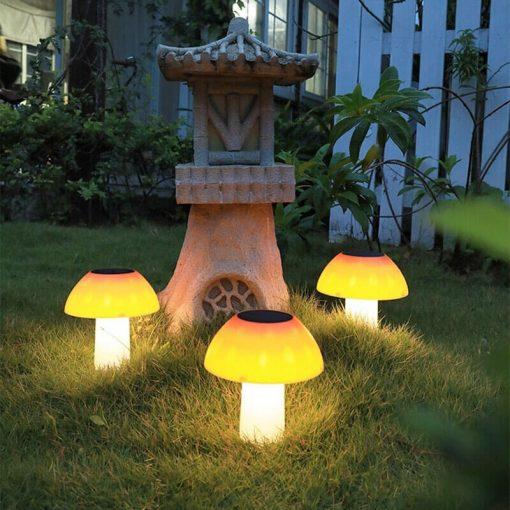 lampe solaire champignon led