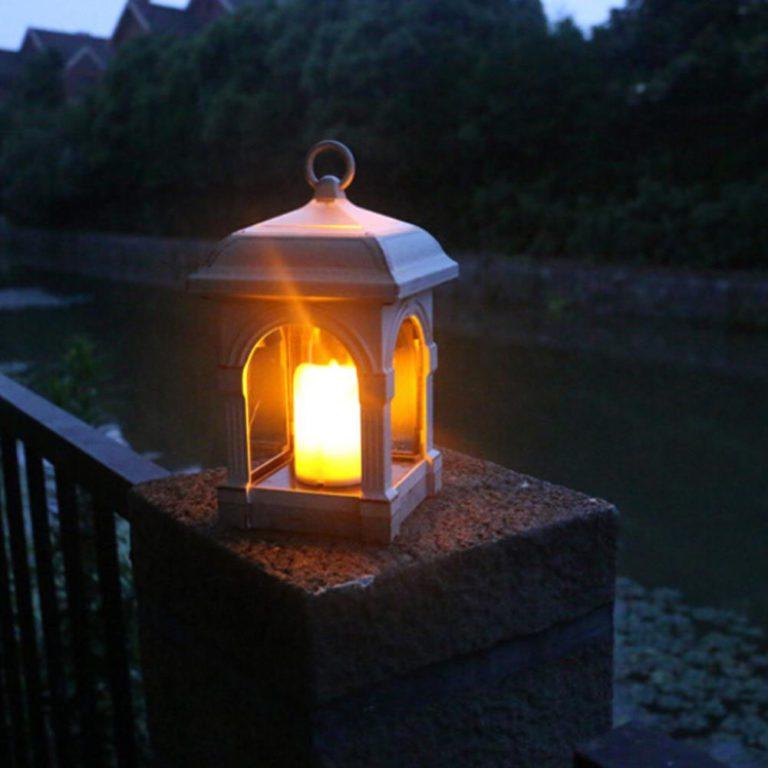 lampe solaire de table vintage