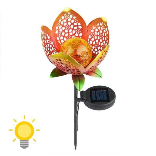 Lampe solaire forme fleur