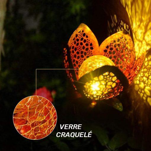 Lampe solaire forme fleur extérieur