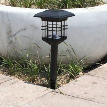 lampe solaire pour poteau de terrasse exterieur