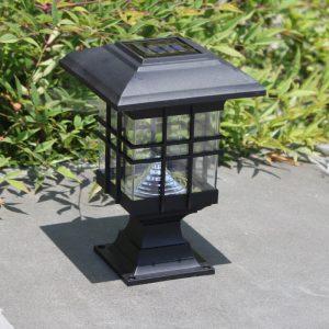 lampe solaire pour poteau de terrasse led