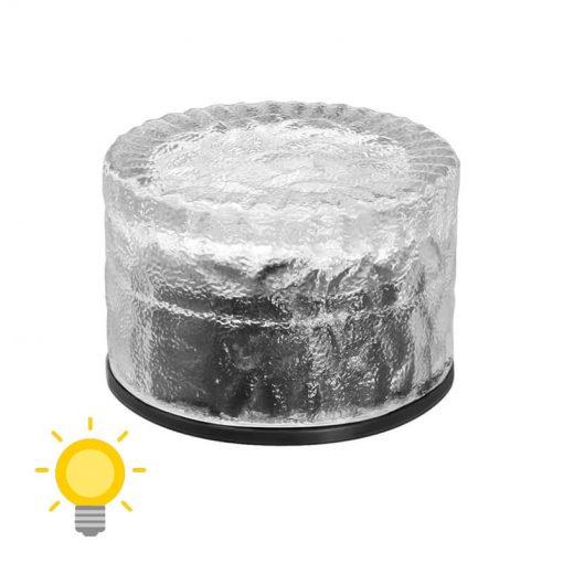 pavé solaire rond