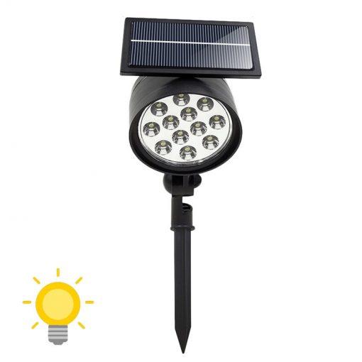 spot led solaire à planter