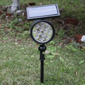 spot led solaire a planter exterieur