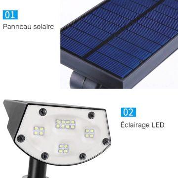 spot solaire autonome jardin