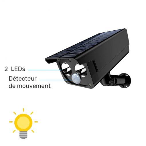 spot solaire detecteur mouvement exterieur puissant