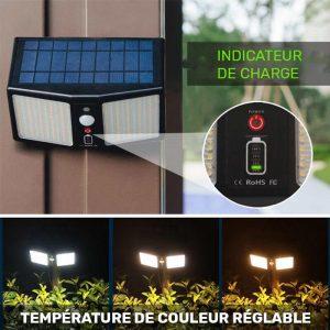 applique extérieur solaire avec télécommande puissante