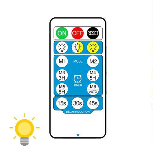 applique exterieur solaire avec telecommande automatique