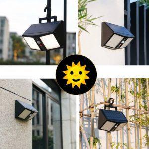 applique extérieur solaire avec telecommande détecteur de mouvement