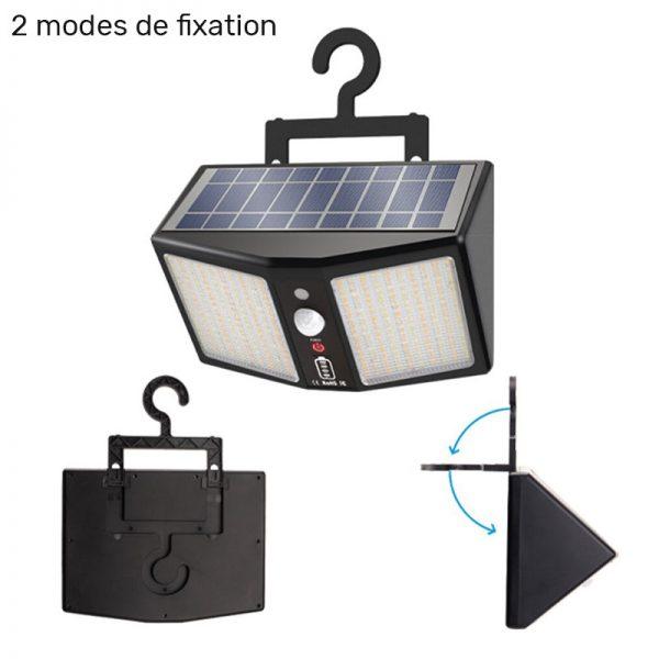 applique exterieur solaire avec telecommande terrasse