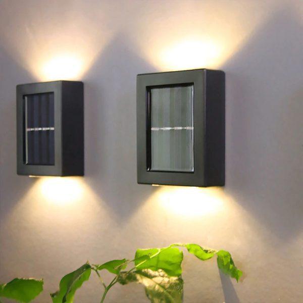 applique murale solaire jardin design