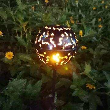 balise solaire blanc chaud jardin