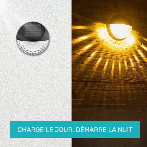 eclairage solaire exterieur pour terrasse LED