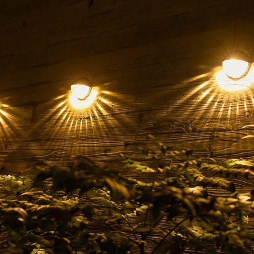 eclairage solaire exterieur pour terrasse blanc chaud