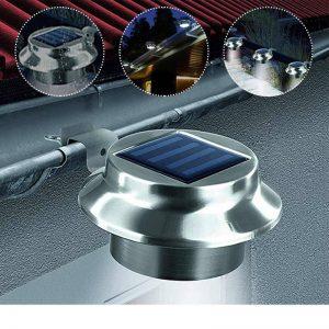 eclairage solaire gouttiere exterieur