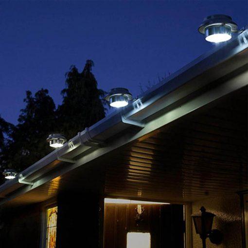 eclairage solaire gouttiere led