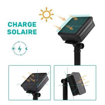guirlande lumineuse exterieur solaire blanc chaud automatique