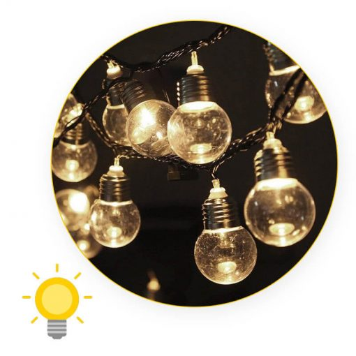 guirlandes boules noel solaires