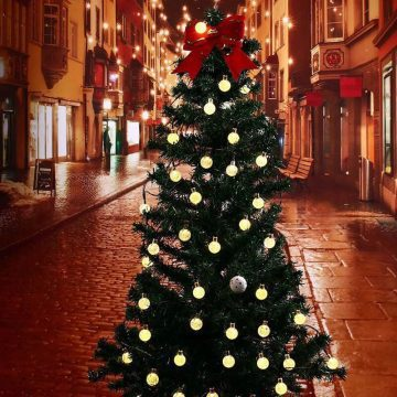 guirlandes boules noel solaires lumineuse