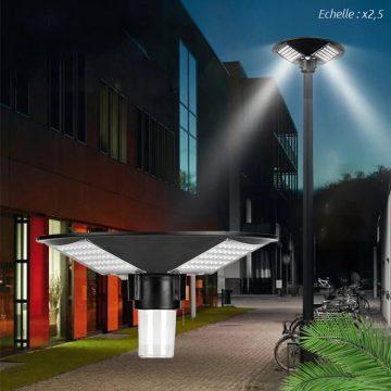 lampadaire exterieur solaire puissant led