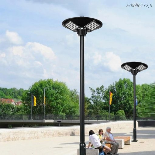 lampadaire exterieur solaire puissant ville