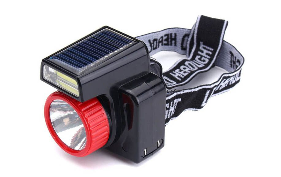 lampe solaire camping frontale