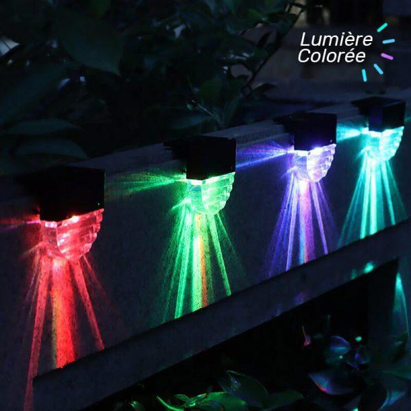lampe solaire exterieur pour escalier couleur