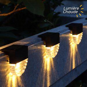 lampe solaire exterieur pour escalier etanche