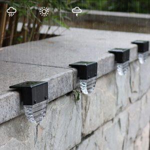 lampe solaire exterieur pour escalier terrasse