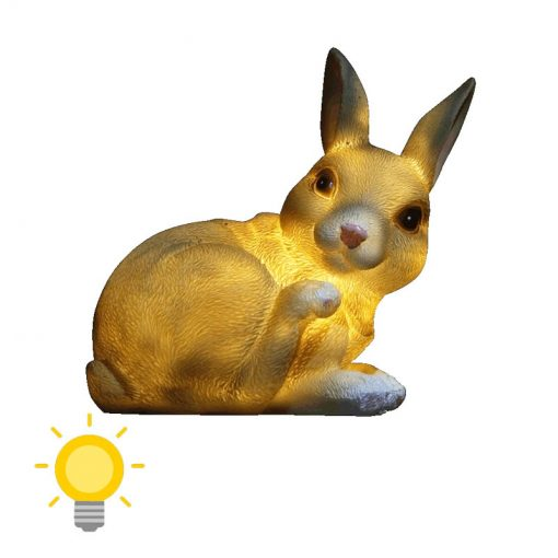 lampe solaire lapin