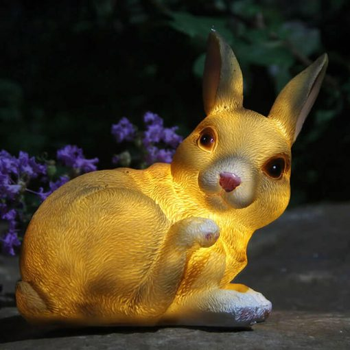 lampe solaire lapin led