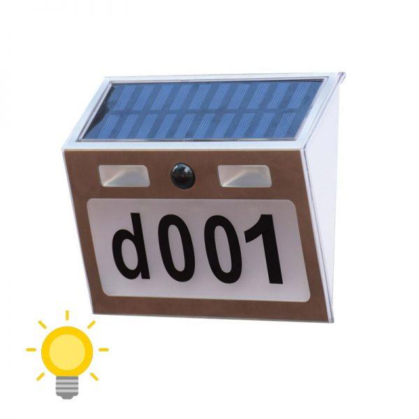 numero de maison eclairage solaire