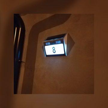 numero de maison eclairage solaire detecteur de mouvement