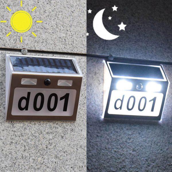 numero de maison eclairage solaire exterieur