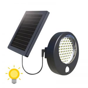 projecteur exterieur led alimentation panneau solaire