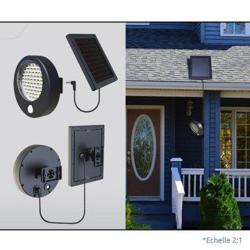 projecteur exterieur led alimentation panneau solaire jardin