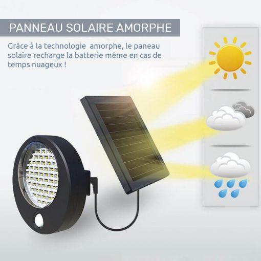 projecteur exterieur led alimentation panneau solaire puissant