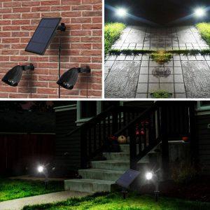 spot led jardin solaire exterieur