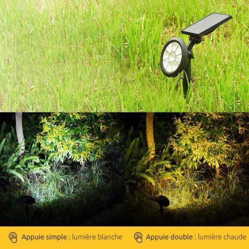 spot led solaire pour jardin eclairage