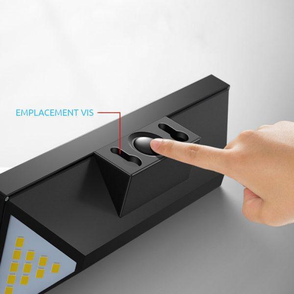 applique solaire puissante avec telecommande autonome