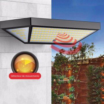 applique solaire puissante avec télécommande détecteurs de mouvement